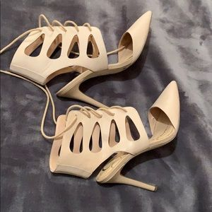 Jessica Simpson lace up pointy toed heels